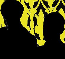 Sherlock and John Silhouette  by UnLeashedArt