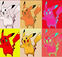 Pikachu collection of distorted colours by RedBubbleWrap