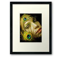 Lady Peacock Framed Print