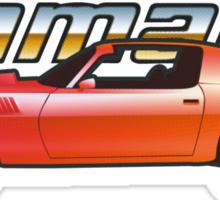 Camaro z28 red halftone Sticker