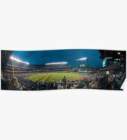 Safeco Right Field Night Panorama Poster