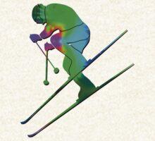 Tie-Dye Skier by Feral Beagle LLC