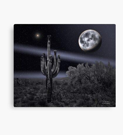 Cactus Moon-2 Canvas Print