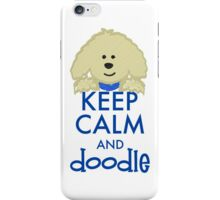 Keep Calm and Doodle - Goldendoodle iPhone Case/Skin