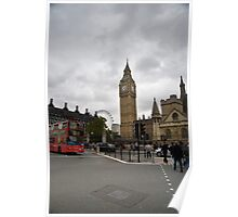 Big Ben on a Grey Day Poster