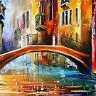 Venice Bridge 3 — Buy Now Link - www.etsy.com/listing/222583404 by Leonid  Afremov