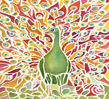 Grove Peacock by Rosie Brown
