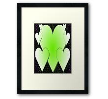 Green Hearts 2-Available As Art Prints-Mugs,Cases,Duvets,T Shirts,Stickers,etc Framed Print