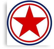Roundel of the North Korean Air Force Canvas Print
