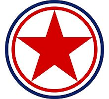 Roundel of the North Korean Air Force Photographic Print