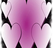 Pink Hearts-Available As Art Prints-Mugs,Cases,Duvets,T Shirts,Stickers,etc by Robert Burns