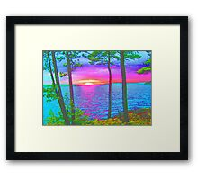 Cottage Sunset at Lake CatchaComa,-Available As Art Prints-Mugs,Cases,Duvets,T Shirts,Stickers,etc Framed Print
