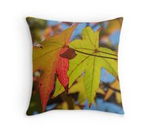 Sweetgum Leaves, October Throw Pillow