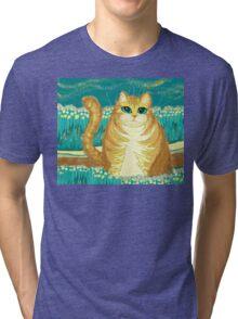 Cat And Pollen Tri-blend T-Shirt