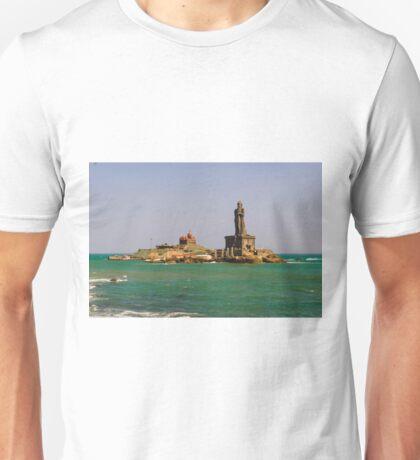 Vivekananda rock memorial & Thiruvalluvar statue Unisex T-Shirt