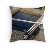 Bamboo Dipper, Kyoto Throw Pillow