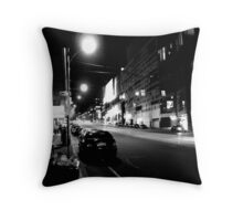 Night streetscape of Melbourne - Photo by Xan Throw Pillow