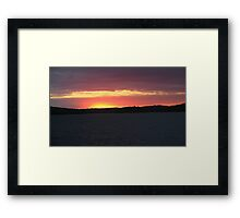 Sunset Over  Lake Catchacoma 2-Available As Art Prints-Mugs,Cases,Duvets,T Shirts,Stickers,etc Framed Print