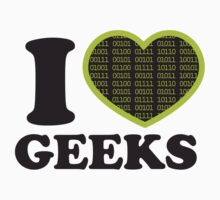 I Love Geeks Binary by Laura Clitheroe