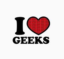 I Love Geeks Binary (Red) Unisex T-Shirt