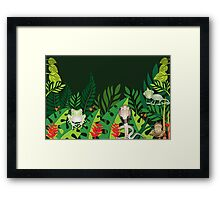 Rainforest Creatures Framed Print