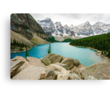 Moraine Lake and the Valley of the Ten Peaks Canvas Print