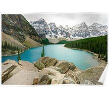 Moraine Lake and the Valley of the Ten Peaks Poster