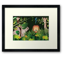 African Jungle Framed Print