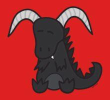 Black chibi dragon Kids Tee