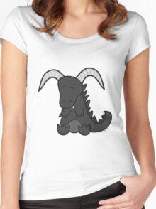 Black chibi dragon Women's Fitted Scoop T-Shirt