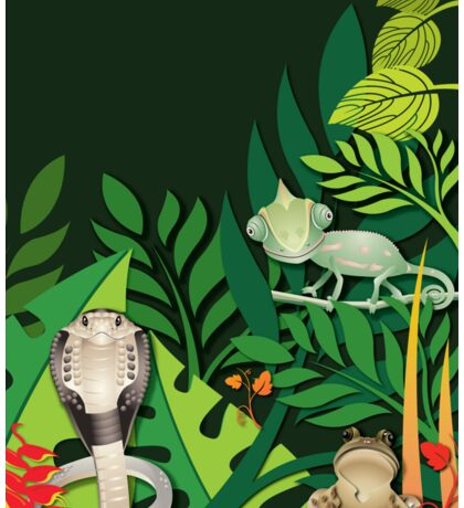 Rainforest Creatures T-Shirt Sticker