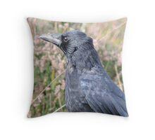 Bore Black Feathers Throw Pillow