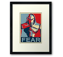 Vote for Cylon Framed Print