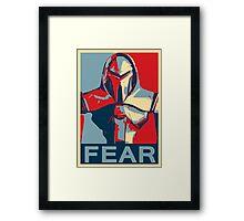 Vote for Cylon Framed Print