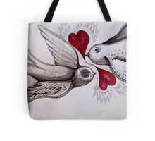 tattoo birds of love art Tote Bag
