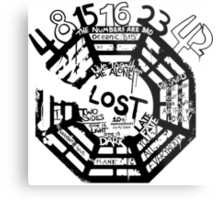 Lost Dharma Numbers Metal Print