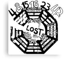 Lost Dharma Numbers Canvas Print