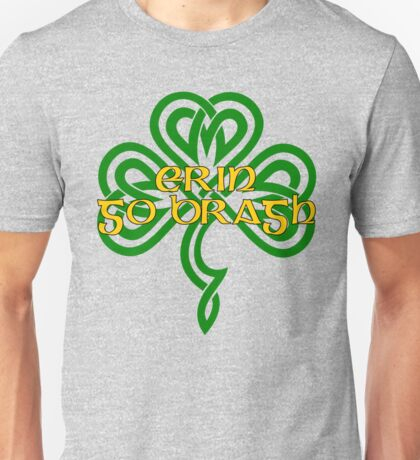 Erin Go Bragh - knotwork shamrock - green Unisex T-Shirt