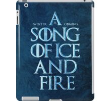 A Song Of Ice And Fire - Winter Is Coming iPad Case/Skin