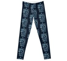 A Song Of Ice And Fire - Winter Is Coming Leggings