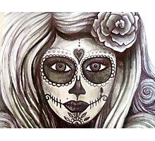 sugar skull tattoo girl art Photographic Print
