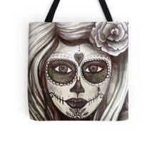 sugar skull tattoo girl art Tote Bag