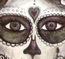 sugar skull tattoo girl art Sticker