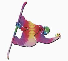Tie-Dye Snowboarder by Feral Beagle LLC
