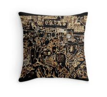 SUPER BOWL 2015, after the game, monochromatic abstract, flipped photo Throw Pillow