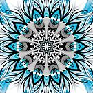 Blue Black Kaleidoscope leggings by fantasytripp