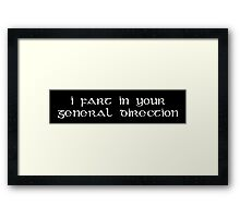 French Taunting Framed Print