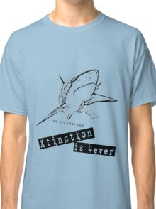 "Shark T-shirt ""Xtinction is forever"" Classic T-Shirt"
