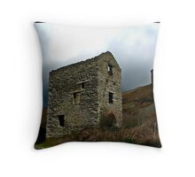 Engine House Ruins of a Cornish Tin Mine. Throw Pillow