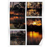 Mirrored Sunset Collage Poster